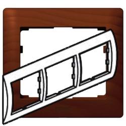 Рамка Galea life трехместная горизонтальная (вишня)