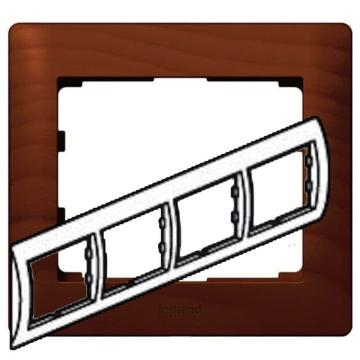 Рамка Galea life четырехместная горизонтальная (вишня)  771974