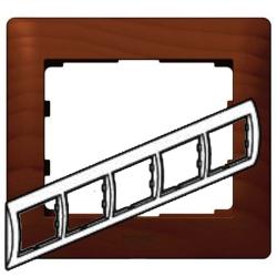 Рамка Galea life пятиместная горизонтальная (вишня) 771975