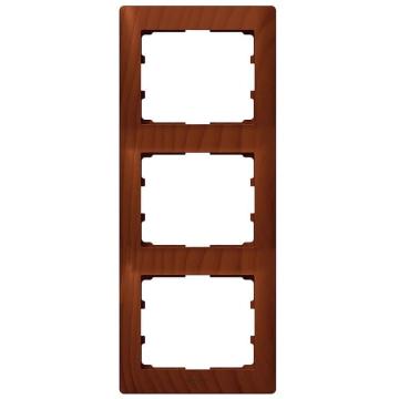 Рамка Galea life трехместная вертикальная (вишня)  771977