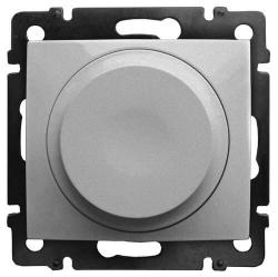 Cветорегулятор поворотно-нажимной Valena 300Вт LED (Алюминий) 770263