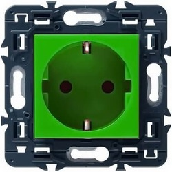 Розетка с заземлением Mosaic (зеленая)