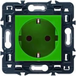 Розетка с заземлением Mosaic (зеленая) 077216+080251
