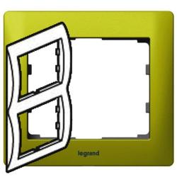Рамка Galea life двухместная вертикальная (зеленый) 771926