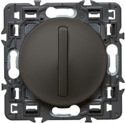 Переключатель кнопочный тонкий Celiane (графит) 067031+065201+080251