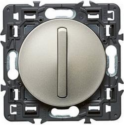 Переключатель кнопочный тонкий Celiane (титан) 067031+065101+080251