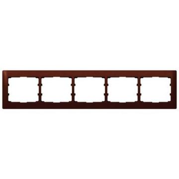 Рамка Galea life пятиместная горизонтальная (махагон)  771985