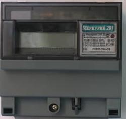 Меркурий счетчик 201.22 однотарифный ЖКИ с PLC модемом 201.22