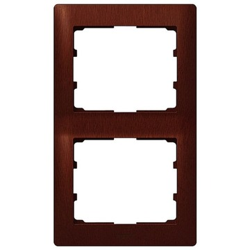 Рамка Galea life двухместная вертикальная (махагон) 771986