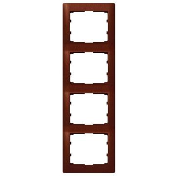 Рамка Galea life четырехместная вертикальная (махагон) 771988
