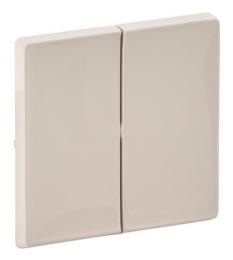 Лицевая панель Legrand Valena Life для двухклавишного выключателя и переключателя (сл. кость) 755021