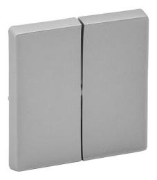 Лицевая панель Legrand Valena Life для двухклавишного выключателя и переключателя (алюминий) 755022