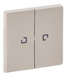 Лицевая панель Legrand Valena Life для двухклавишного выключателя и переключателя с подсветкой (сл. кость) 755221