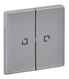 Лицевая панель Legrand Valena Life для двухклавишного выключателя и переключателя с подсветкой (алюминий) 755222
