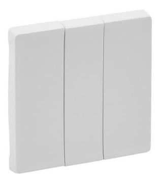 Лицевая панель Legrand Valena Life для трехклавишного выключателя (балая) 755030