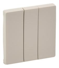 Лицевая панель Legrand Valena Life для трехклавишного выключателя (сл. кость) 755031