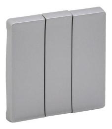 Лицевая панель Legrand Valena Life для трехклавишного выключателя (алюминий) 755032
