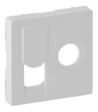 Лицевая панель Legrand Valena Life для розетки RJ45 и TV (белая) 754830