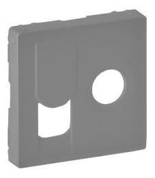 Лицевая панель Legrand Valena Life для розетки RJ45 и TV (алюминий) 754832