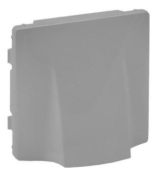 Лицевая панель Legrand Valena Life для вывода кабеля (алюминий) 754732