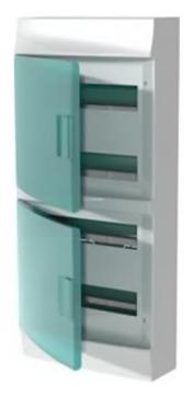 Бокс настенный ABB Mistral41 на 48 мод. зеленая дверца (без клемм) 1SPE007717F0720