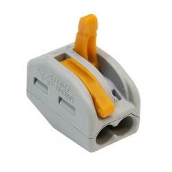 Клеммник WAGO с рычагами на 2 проводника до 4мм² 222-412