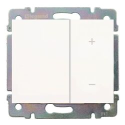 Cветорегулятор кнопочный Galea Life 60-600Вт (белый) 775653+771086