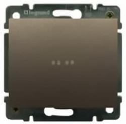 Переключатель одноклавишный Galea Life с подсветкой (темная бронза) 775602+771234