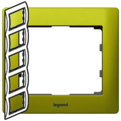 Рамка Galea life пятиместная вертикальная (зеленый)