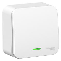 Выключатель 1кл с подсветкой Blanca О/У 6А (белый) BLNVA061101