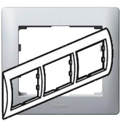 Рамка Galea life трехместная горизонтальная (алюминий)