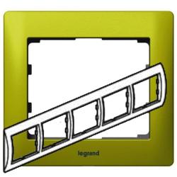 Рамка Galea life пятиместная горизонтальная (зеленый) 771925