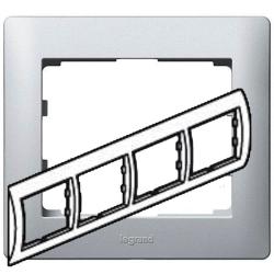 Рамка Galea life четырехместная горизонтальная (алюминий) 771304