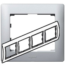 Рамка Galea life четырехместная горизонтальная (алюминий)