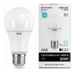 Светодиодная лампа Gauss LED Elementary 10Вт. Е27 (естественный белый свет)