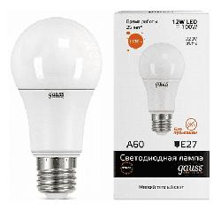 Светодиодная лампа Gauss LED Elementary 12Вт. Е27 (теплый свет)