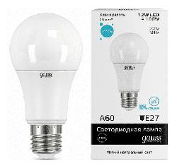 Светодиодная лампа Gauss LED Elementary 12Вт. Е27 (естественный белый свет) 23222