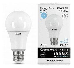 Светодиодная лампа Gauss LED Elementary 12Вт. Е27 (холодный белый свет) 23232