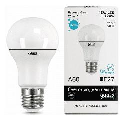 Светодиодная лампа Gauss LED Elementary 15Вт. Е27 (естественный белый свет) 23225