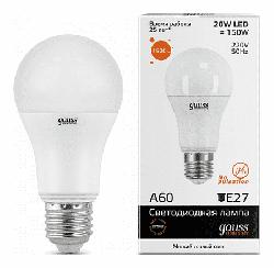 Светодиодная лампа Gauss LED Elementary 20Вт. Е27 (теплый свет) 23219