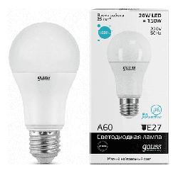 Светодиодная лампа Gauss LED Elementary 20Вт. Е27 (естественный белый свет) 23229