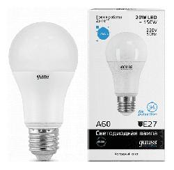 Светодиодная лампа Gauss LED Elementary 20Вт. Е27 (холодный белый свет) 23239