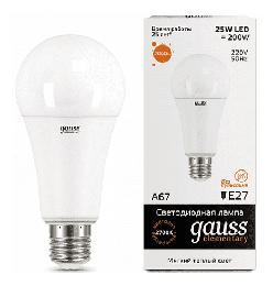 Светодиодная лампа Gauss LED Elementary 25Вт. Е27 (теплый свет) 73215