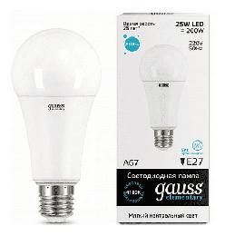 Светодиодная лампа Gauss LED Elementary 25Вт. Е27 (естественный белый свет) 73225