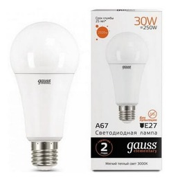 Светодиодная лампа Gauss LED Elementary 30Вт. Е27 (теплый свет) 73219