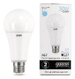 Светодиодная лампа Gauss LED Elementary 30Вт. Е27 (естественный белый свет) 73229