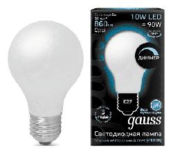 Светодиодная лампа Gauss LED Filament 10Вт. Е27 диммируемая (естественный белый свет)