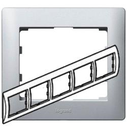 Рамка Galea life пятиместная горизонтальная (алюминий)