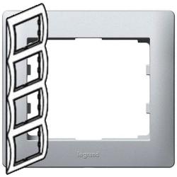Рамка Galea life четырехместная вертикальная (алюминий) 771308