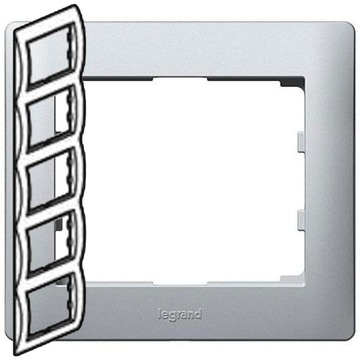 Рамка Galea life пятиместная вертикальная (алюминий) 771309